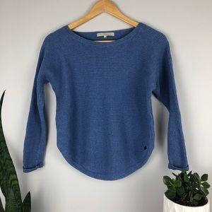 Monk & Lou Blue Cropped Knit Sweater